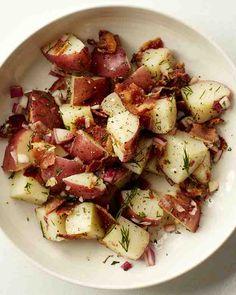 Crumbled bacon, dill, and a dash of apple cider vinegar invigorate this potato salad.
