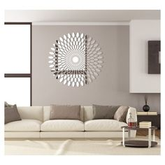 Items similar to Decorative mirror wall decor DAISY in) acrylic mirror, made in EU, DIY, template attached on Etsy Acrylic Mirror, Chandelier, Wall Decor, Ceiling Lights, Living Room, Trending Outfits, Furniture, Design, Home Decor