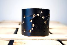 Hey, I found this really awesome Etsy listing at https://www.etsy.com/listing/99160093/mens-leather-cuff-aquarius-constellation
