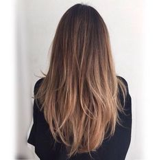 Image result for layered light brown hair straight