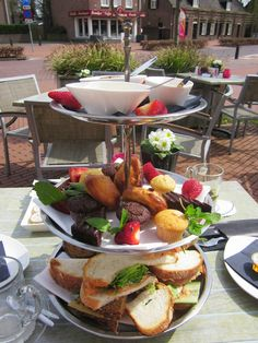 "High Tea @ Grandcafe ""Saint Tropez"", Veldhoven, The Netherlands  http://www.cafesainttropez.nl/en/"