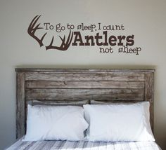 Count Antlers not Sheep Vinyl Wall Decal by KristinsKustomDecor