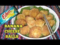 BANANA CHEESE BALLS/banana balls with cheese filling - YouTube Cheese Ball Recipes, Bread Cake, Baking And Pastry, Filipino Recipes, Bread Crumbs, Mashed Potatoes, Balls, Deserts, Banana