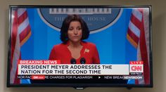 Samsung TV and CNN TV channel in VEEP: THE MORNING AFTER (2016) @samsunghome @cnni Comedy Tv Series, Samsung Tvs, Two By Two, Channel, Entertaining, Funny