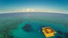 Onder water kamer op Pemba-eiland, voor de kust van Tanzania vlak bij Zanzibar