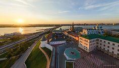 Foto aérea del Kremlin de Kazán en Rusia