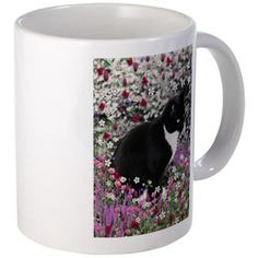 Freckles in Flowers II Mug #sold flying off to Kansas!  #cat