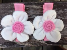 Flower Hair Clips Barrettes  No Slip Grip by PrincessGraceBow