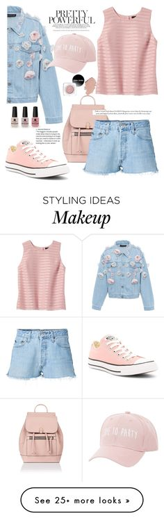 """""""pastel flowers"""" by feerubal on Polyvore featuring Accessorize, Anouki, Banana Republic, Converse, RE/DONE, Charlotte Russe and Victoria's Secret"""