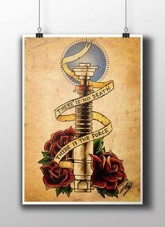 Jedi Code Tattoo Parlour Parlor Poster Print por NebulaPrints