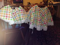 summers coming 2 circle skirts for 2 sunny little girls made from curtain found in my local charity shop and trimming from the scrap box