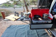 Ute Tray Camping Setup Kitchen Drawer
