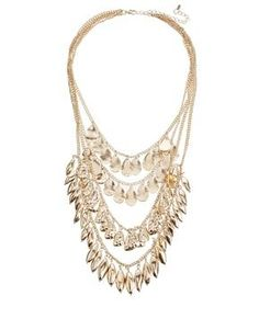 Oasis Four Row Jingly Collar Necklace