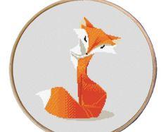 Fox Cross stitch pattern Counted cross stitch pattern par Xrestyk