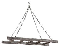 Barnwood Ladder Pot Rack