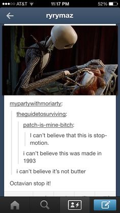 Plot twist: Jack Skellington went to the Underworld and decided to be reborn as Octavian...