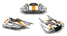 custom LEGO MOC Star Wars T-47 Airspeeder-Snowspeeder Instructions