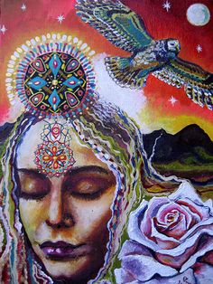 I'll lift you up as you lift up me, I'll set you free as you set free me, its deep in our ancestries, our blood mysteries, eternally, woah.... Its time for sleeping Woman to awake, can you feel the Mountains begin to shake? We are wild wise Women, now is the time to change the old paradigm, so come join our circles, sisters sing your song, stand in your power from Goddess Music by Samantha Fernandez. Art by  Isabel Bryna