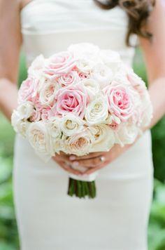 Classic pink and white rose bouquet: http://www.stylemepretty.com/vault/gallery/38388 | Photography: Tamara Gruner - http://tamaragruner.com/