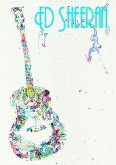 Ed sheeran fan art juste whoa *-*