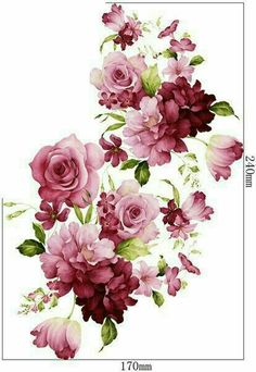 Pin by debbie hughes on decoupage in 2019 Decoupage Vintage, Decoupage Paper, Vintage Paper, Art Floral, Floral Prints, Paper Art, Paper Crafts, Fabric Painting, Vintage Flowers