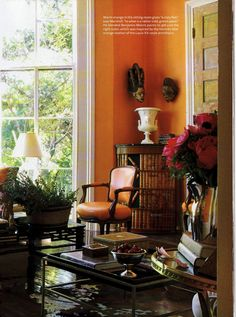 house beautiful a dash of orange please zsazsa bellagio like no other