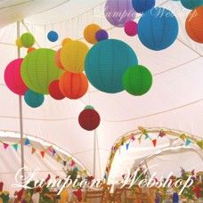 The key to this theme is a variety of coloured lanterns and small, medium and large lanterns hung randomly throughout your whole venue. Mad Hatter Wedding, Large Lanterns, Nursery, Table Decorations, Celebrities, Party, Inspiration, Wedding Stuff, Wedding Ideas