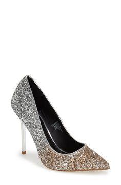Ooh la la! These glitter pumps are so sparkly.