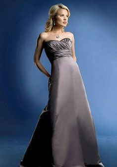 Empire A line Sweetheart Satin With Ruching Sleeveless Bridesmaid Dress - Angeldress.co.uk