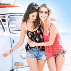 Chill out all summer in Hollister tanks and denim shorts.