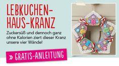 Newsletter Gratis Häkelanleitung Lebkuchenhaus-Kranz