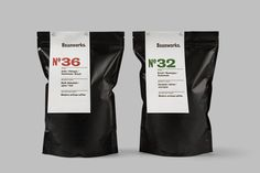 Brand Identity and packaging for coffee roaster and supplier Beanworks designed by Paul Belford