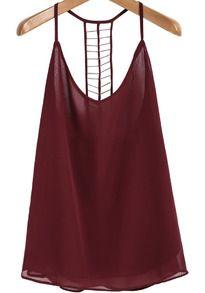 Black spaghetti strap birds print vest 1217 clothes dress wine red spaghetti strap bead chiffon cami top maxwellsz