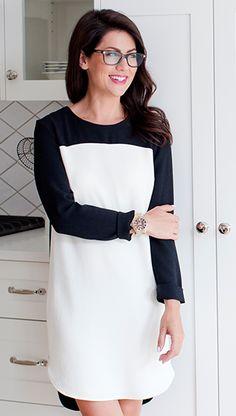 Black and white topshop/club Monaco dress Spring Fashion Casual, Spring Fashion Trends, Preppy Style, My Style, Jillian Harris, Europe Fashion, Career Wear, Fashion Essentials, Sexy