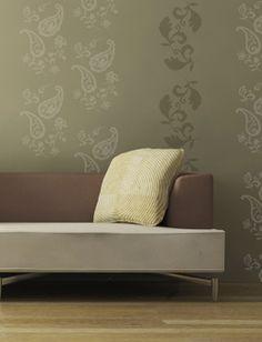 Paisley wallpaper treatment