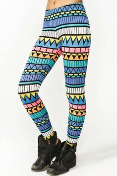 Neon+Aztec+Leggings