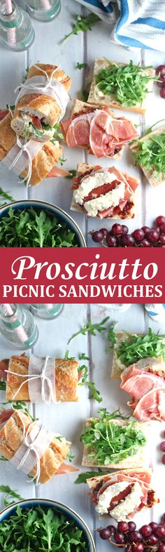 These Prosciutto Picnic Sandwiches are an easy and delicious European-style lunch!