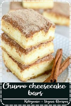 The crunchy cinnamon of churros combined with the creamy tanginess of cheesecake. Churro cheesecake bars are sure to become a favorite treat! An easy and delectable dessert recipe! #churrocheesecakebars#churrocheesecake #churro #cheesecakebars #creationsbykara#cinnamondessert