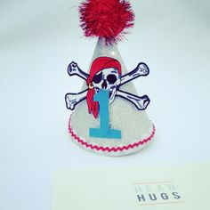 Birthday party hats baby boy pirate by HeadbandsbyHeadHugs on Etsy