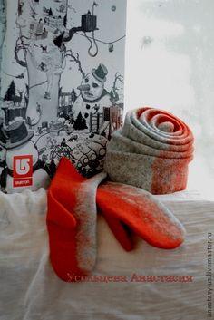 Комплекты аксессуаров ручной работы. Ярмарка Мастеров - ручная работа Шапка и варежки. Handmade.