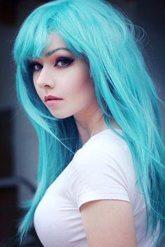 Dragonball Z - Bulma Wig and Makeup [2] by AmyThunderbolt on DeviantArt
