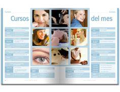 Diseño editorial - Stop Diseño Gráfico - Diseño de cursos del mes, Revista La guía del SPA.