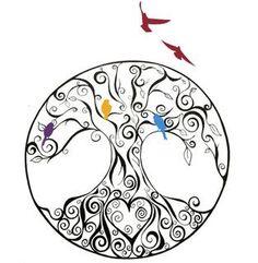 New tattoo bird family tree tat 61 ideas Bild Tattoos, Name Tattoos, Foot Tattoos, Flower Tattoos, Picture Tattoos, Small Tattoos, Sleeve Tattoos, Tree With Birds Tattoo, Oak Tree Tattoo