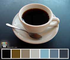 Color inspiration can come from anywhere. Here are some colors from my morning cup of coffee captured with the Color911 app. #color #Color911 #app #coffee