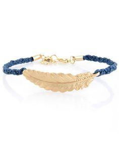 a golden feather #bracelet