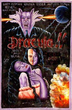 Dracula - Ghanaian Ghana vintage bootleg movie film poster, c1980. Gary Oldham. Winona Rider.
