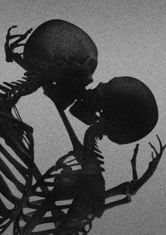Bone-Kiss by David McBurney - Tr Tutorial and Ideas Black And White Aesthetic, Red Aesthetic, Aesthetic Grunge, Death Aesthetic, Aesthetic Drawings, Aesthetic Design, Aesthetic Vintage, Aesthetic Pictures, Aesthetic Clothes