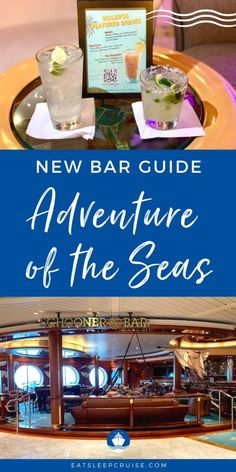 Adventure of the Seas Bar Guide With New Menus - Having just returned from the first cruise on Adventure of the Seas, we put together this Adventure of the Seas Bar Guide with menus. Royal Caribbean International, Royal Caribbean Cruise, Craft Cocktails, Fun Drinks, Cruise Checklist, Ice Show, Cruise Reviews, Champagne Bar, Adventure Of The Seas