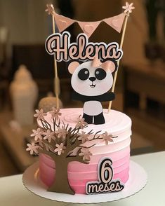 Bolo Panda, Panda Cakes, Let Them Eat Cake, Cake Toppers, Birthday Cake, Instagram, Sweet, Desserts, Food