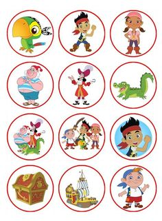 Printable Jake and the Neverland Pirates Cupcake Toppers - Pesquisa do Google: